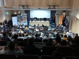 Grand débat des jeunes, amphithéâtre université lyon 2