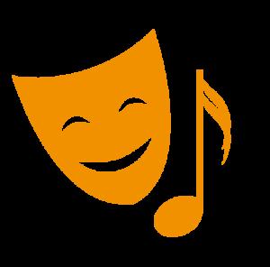 Masque et note de musique - Picto culture