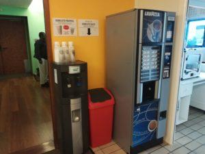 Machine à café et fontaine à eau de la Mission Locale de Vaulx