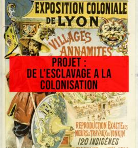 Projet «De l'esclavage à la colonisation»